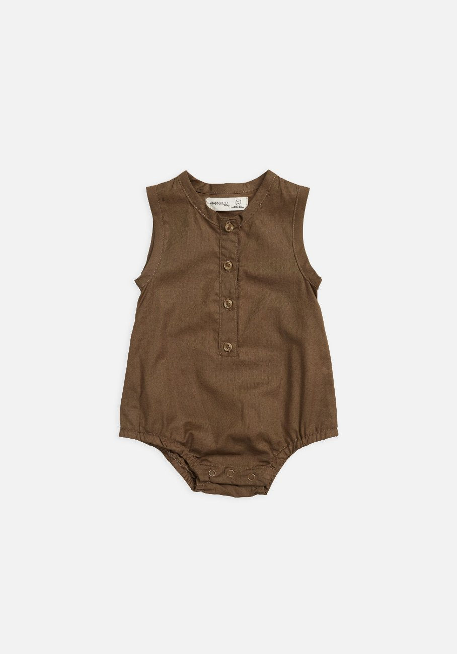 Miann & Co Baby – Sleeveless Bodysuit – Portebello - MIANN & CO