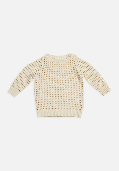 Miann & Co Kids - Open Knit Jumper - Eggnog