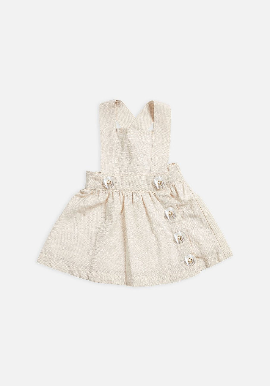 Miann & Co Baby – Pinafore - Natural Linen - MIANN & CO