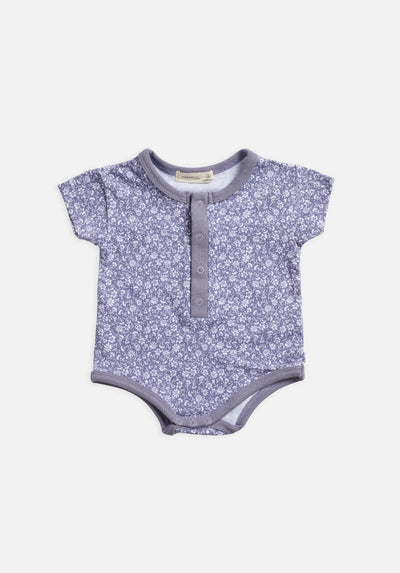 Miann & Co Baby – Short Sleeve Bodysuit - Lavender Grey Floral - MIANN & CO