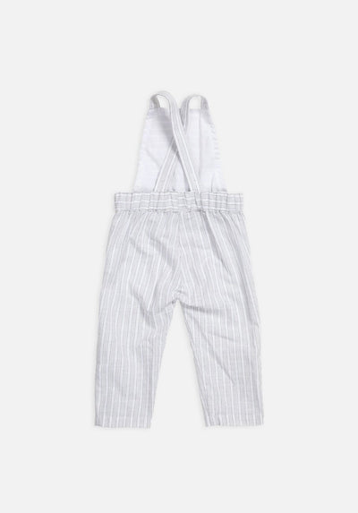 Miann & Co Baby – Cross Back Overalls – Grey Stripe - MIANN & CO