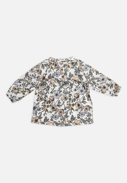 Miann & Co Baby – Raglan Long Sleeve Flowy Shirt – Secret Garden Floral - MIANN & CO
