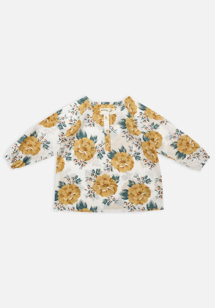 Miann & Co Baby Flowy top - Mustard floral - MIANN & CO
