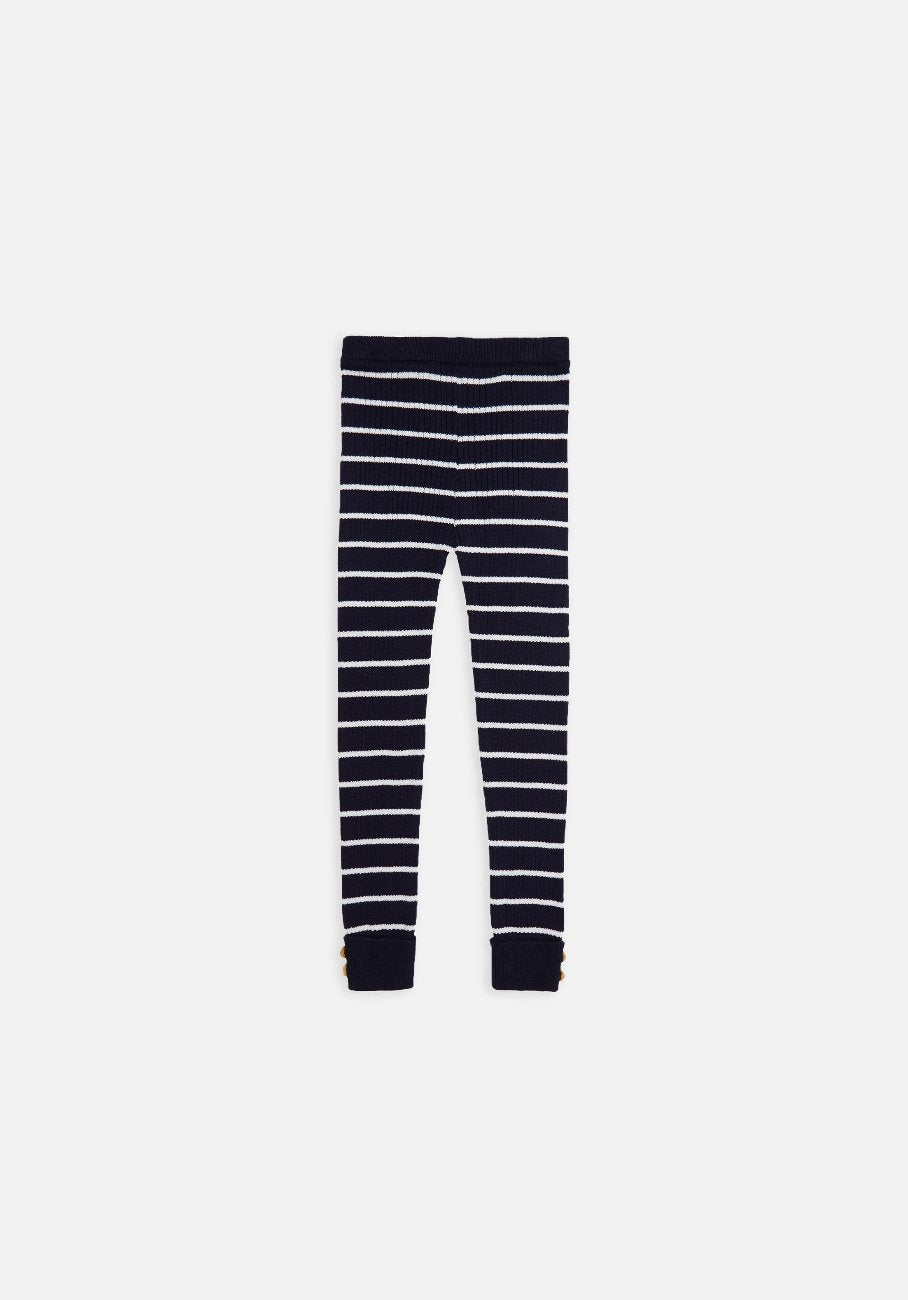 Miann & Co Baby – Rib Leggings – Navy Stripe - MIANN & CO