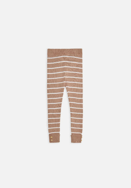 Miann & Co Kids - Rib Legging - Praline Stripe