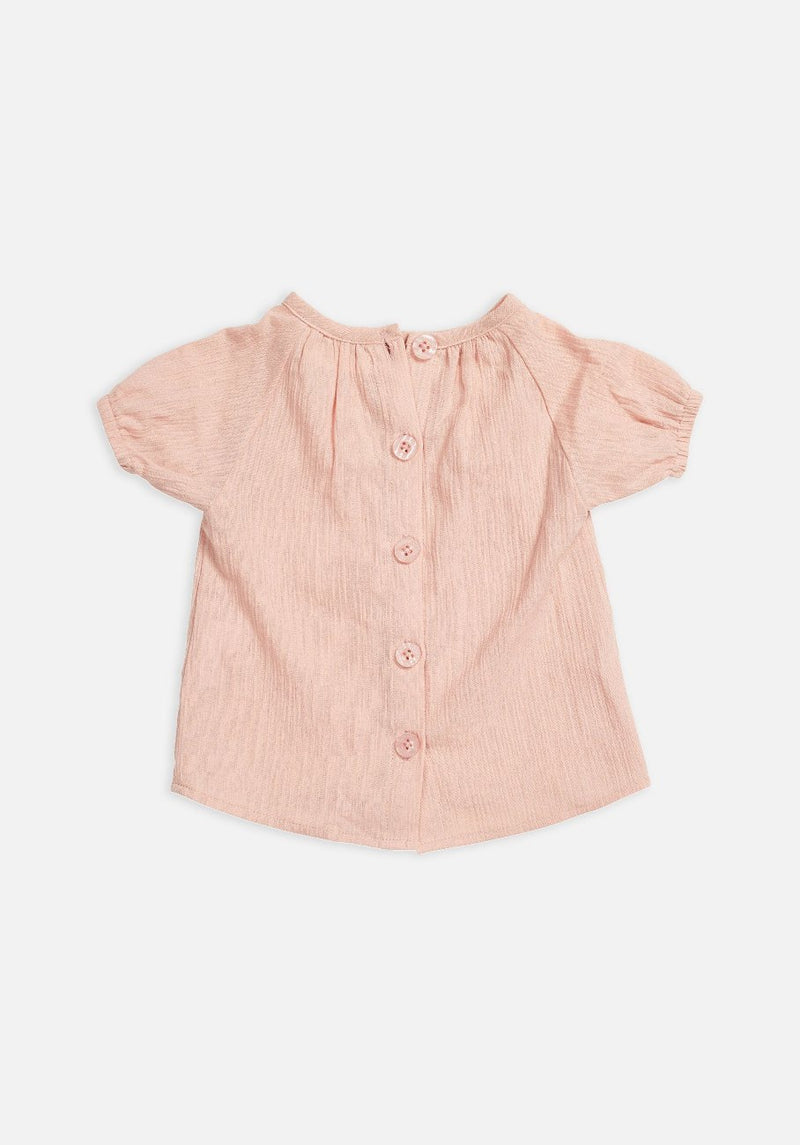 Miann & Co Baby – Short Sleeve Flowy Shirt – Spanish Villa - MIANN & CO