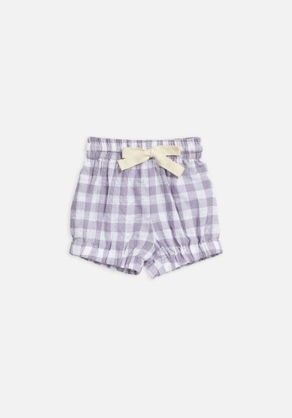 Miann & Co Baby – Woven Bloomer Shorts – Lavender Grey Gingham - MIANN & CO