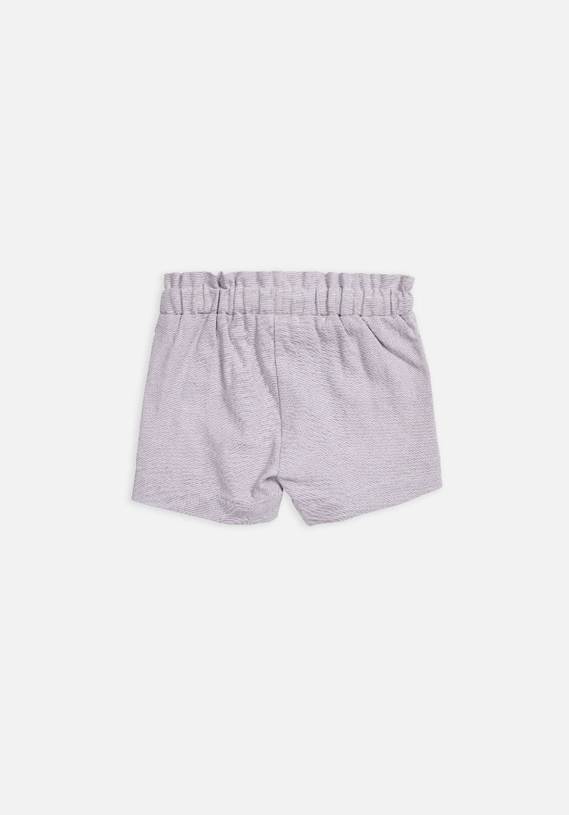 Miann & Co Baby – Elastic Waist Shorts – Lavender Grey - MIANN & CO