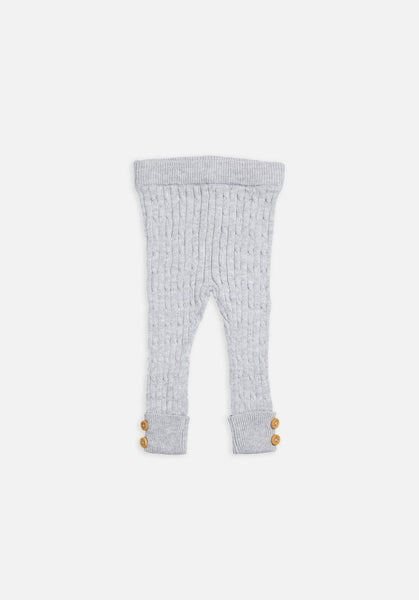 Miann & Co Kids – Textured Rib Leggings - Grey
