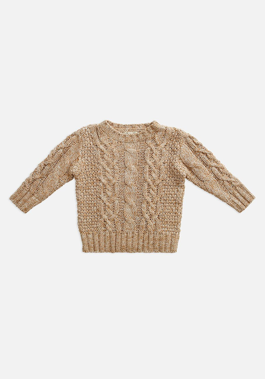 Miann & Co Kids - Knit Cable Jumper - Peanut Brittle