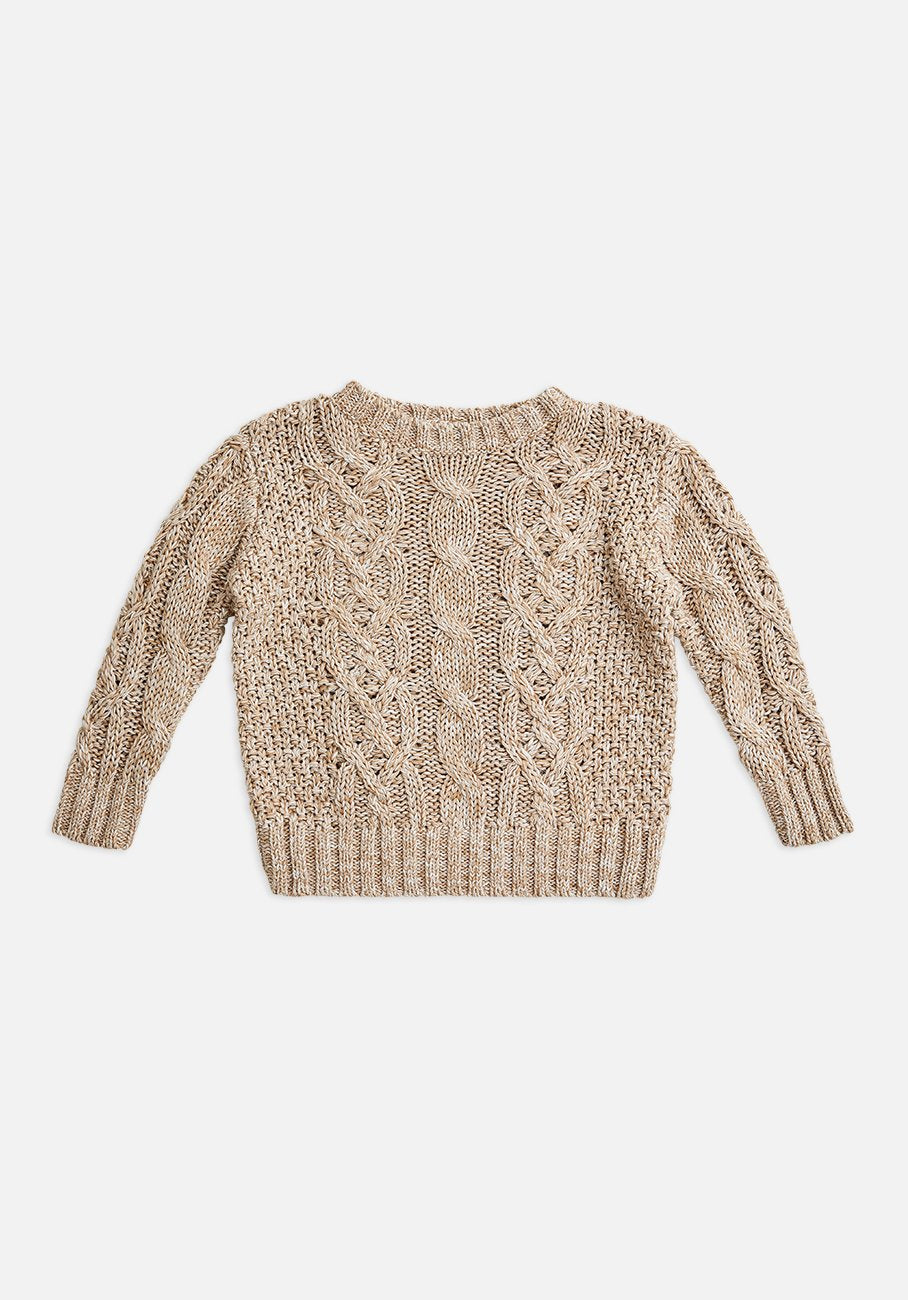 Miann & Co Baby - Cable Knit Jumper - Barley