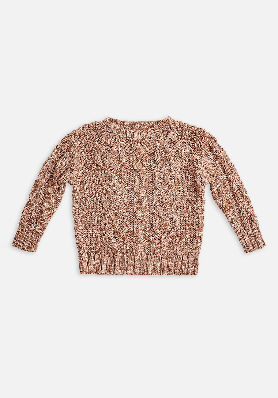 Miann & Co Baby - Cable Knit Jumper - Marmalade
