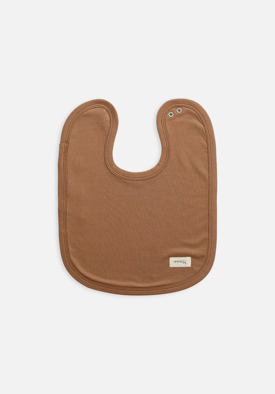 organic brown bib