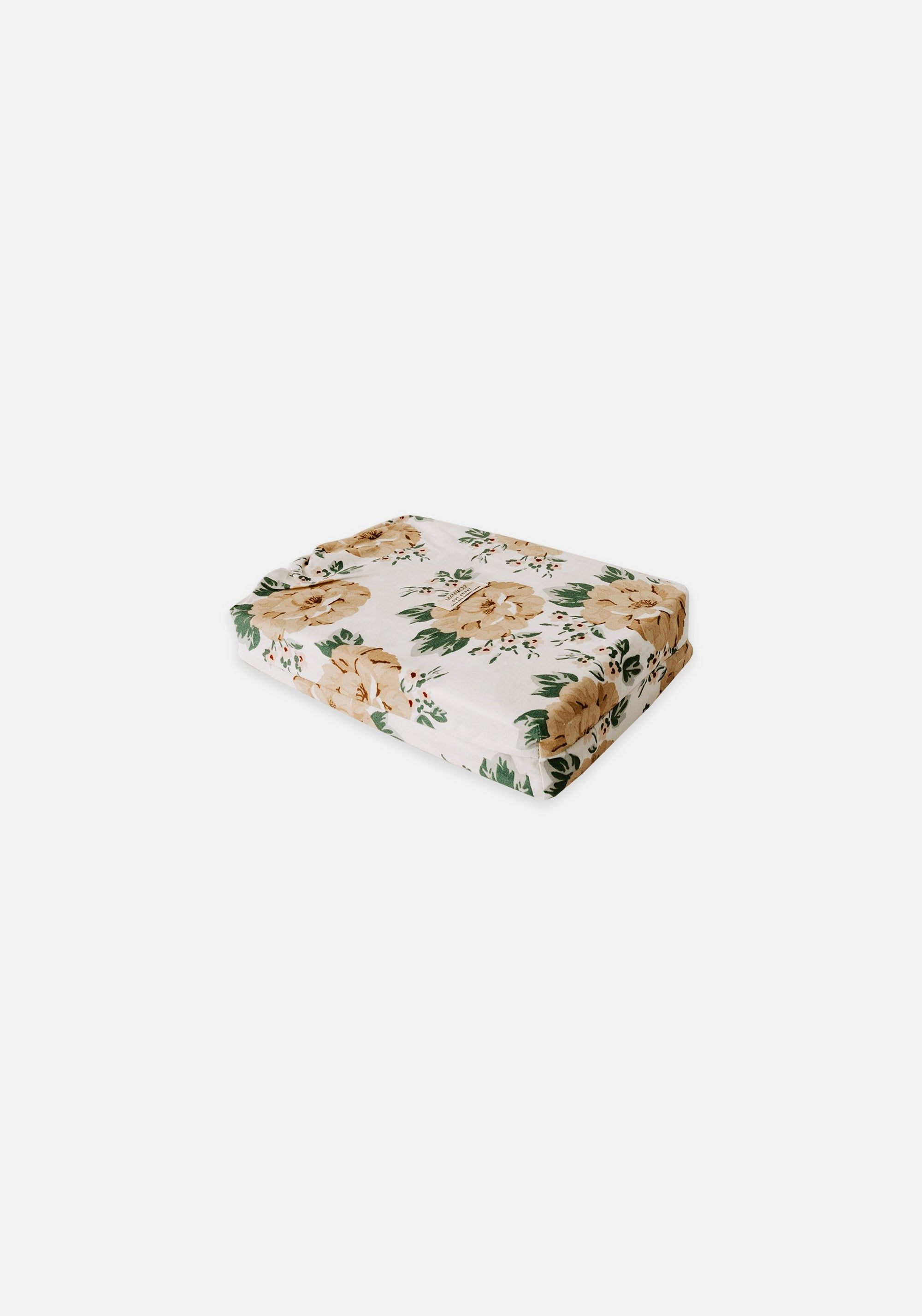 Miann & Co - Cot Fitted Sheet - Mustard Floral