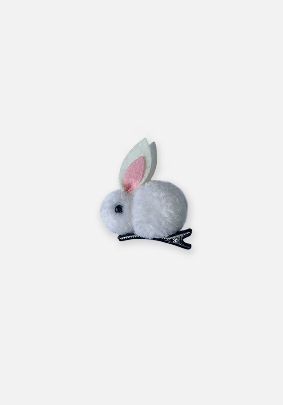 Little Bunny Hair Clip - White