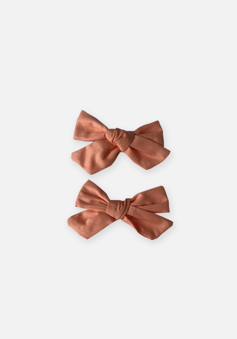 Large Bow Clip - Coral