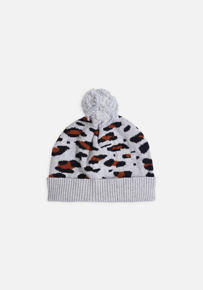 Miann & Co Womens - Georgie Knit Beanie - Leopard Print