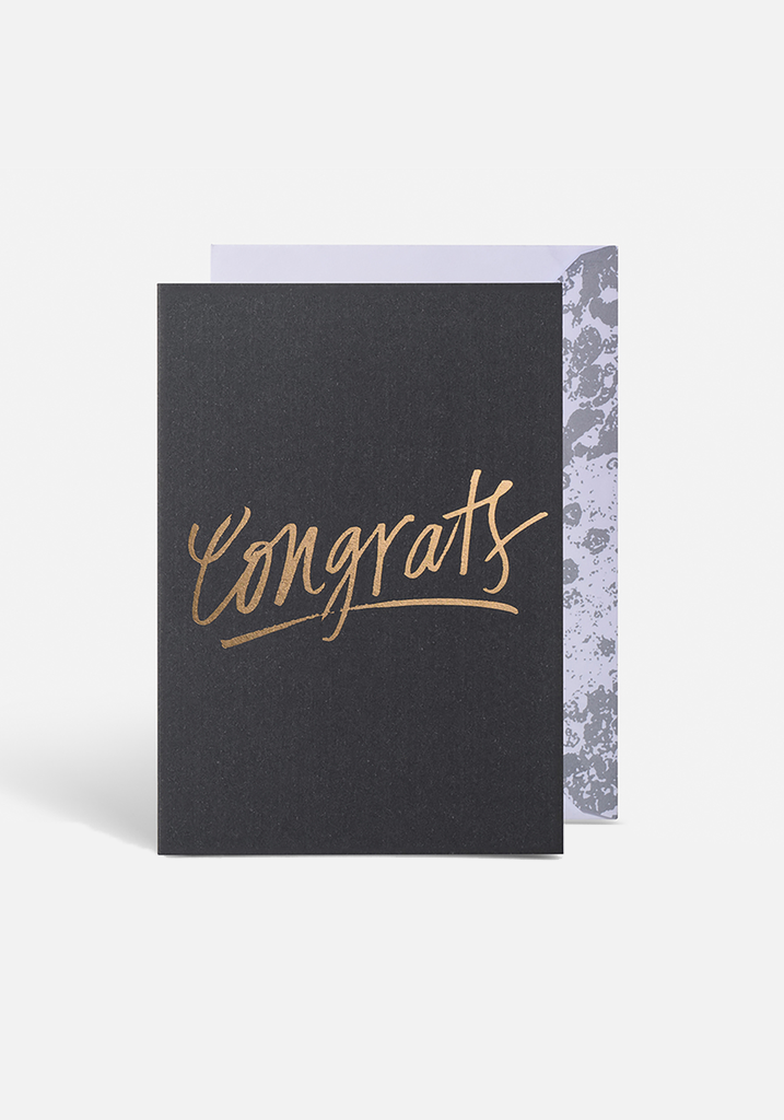 Congrats Script Greeting Card - MIANN & CO