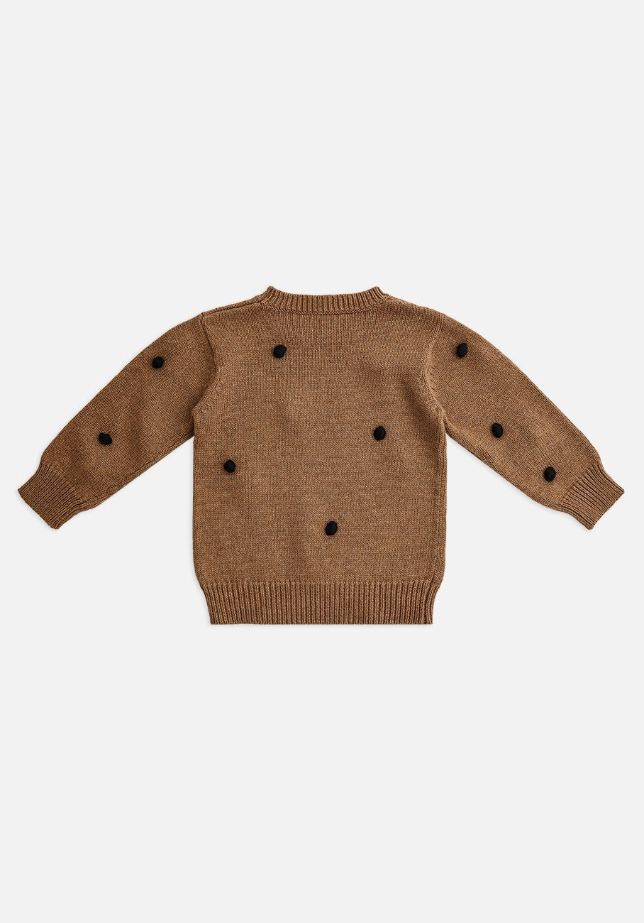 Miann & Co Kids - Knit Dotted Jumper - Walnut