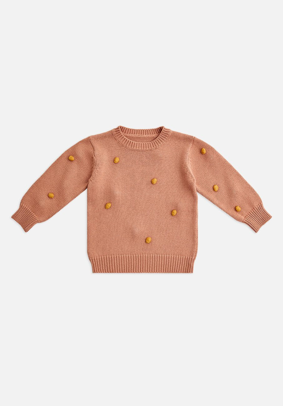 Miann & Co Kids - Knit Dotted Jumper - Blush