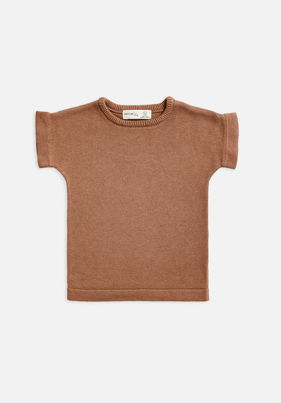 Kids Knit T-shirt brown