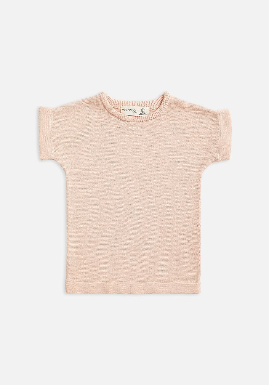 kids knit t-shirt pink