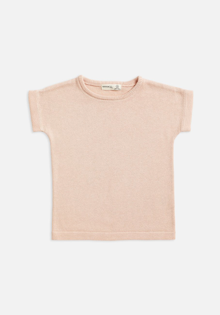 Baby pink knit t-shirt