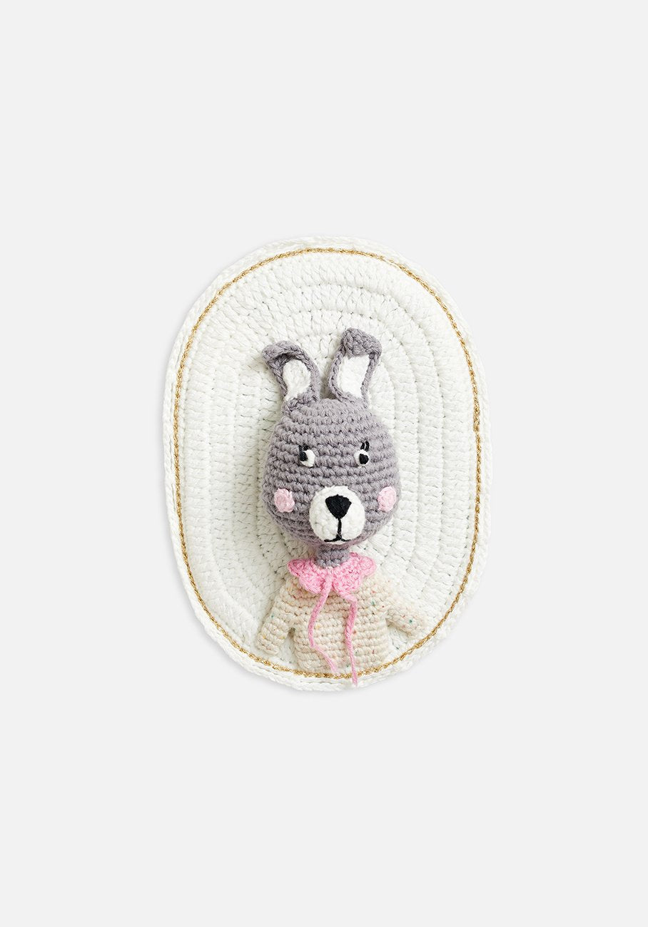 wall hanging bunny on white backing
