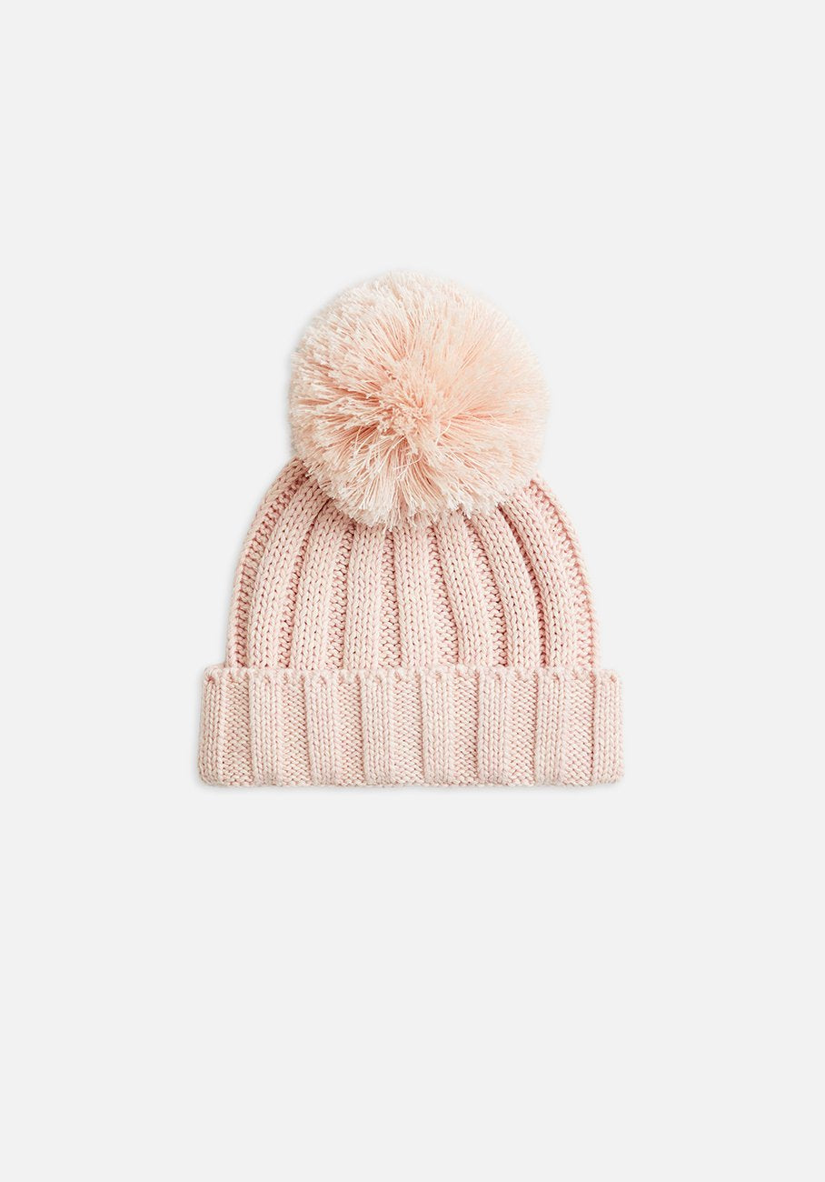 Miann & Co - Rib Knit Beanie - Petal