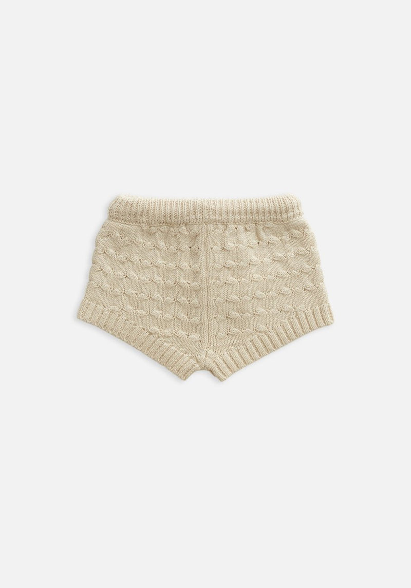 baby texture beige knit bloomer shorts