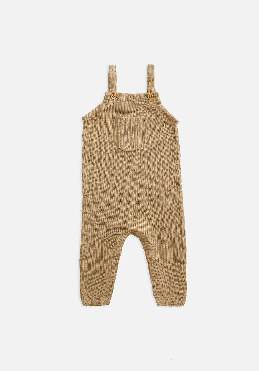 baby clay ribbed overall