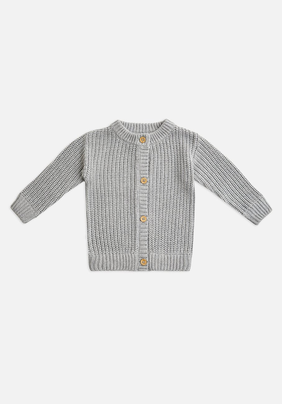 Miann & Co Baby - Chunky Knitted Cardigan - Cloud