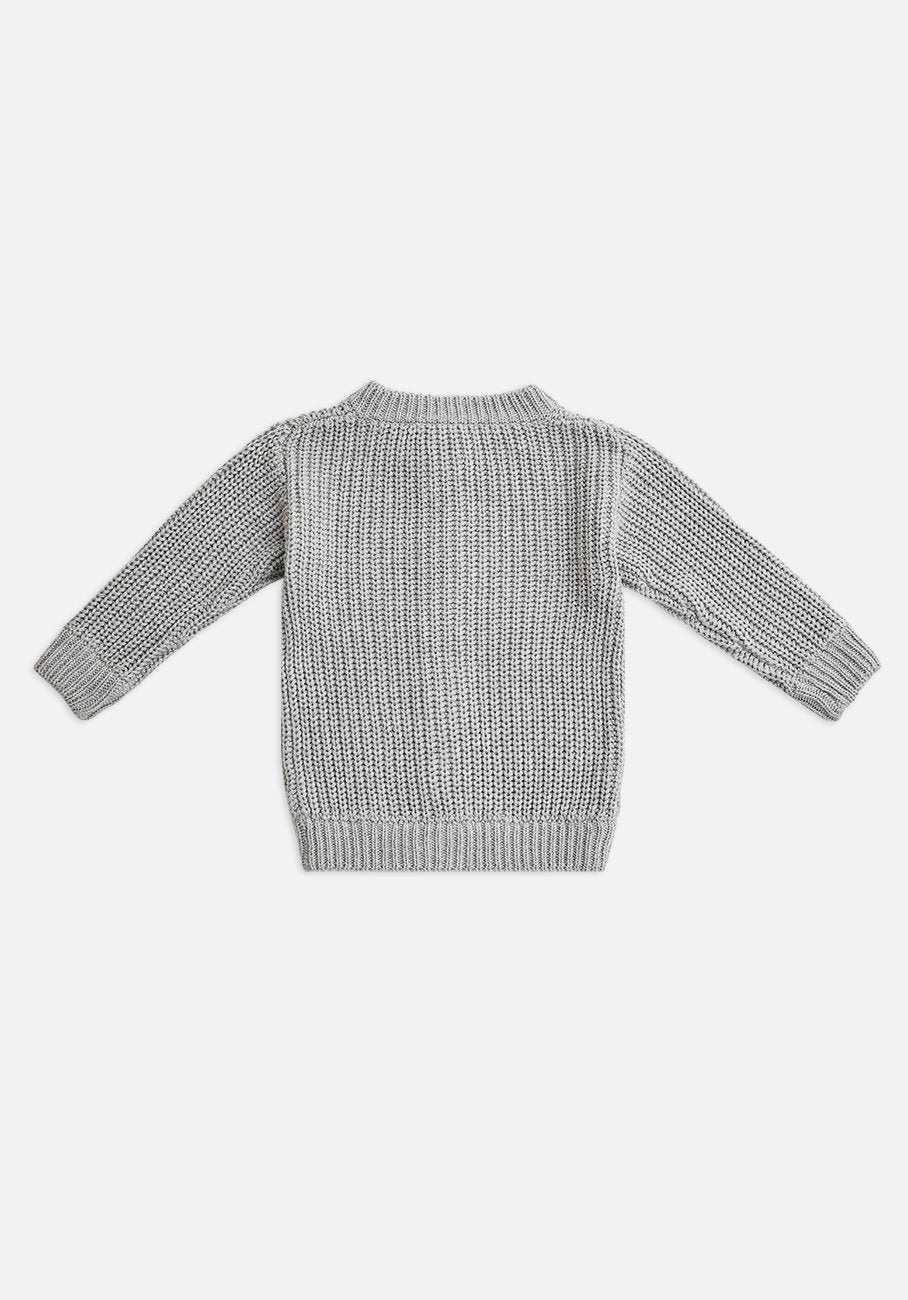 Miann & Co Kids - Chunky Knitted Cardigan - Cloud