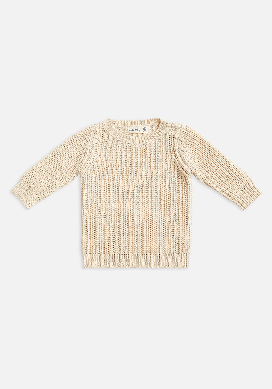 kids beige biscotti knit jumper