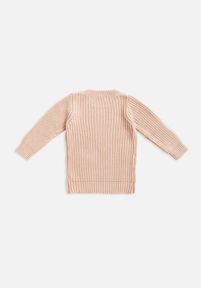 kids pink rosewater knit jumper