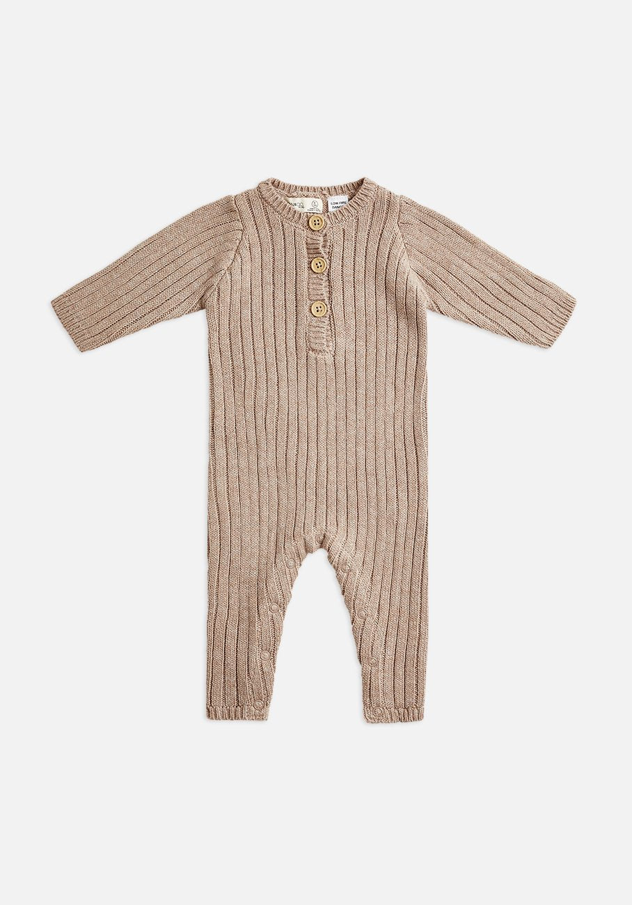 Miann & Co Baby - Rib Knit Jumpsuit - Clove
