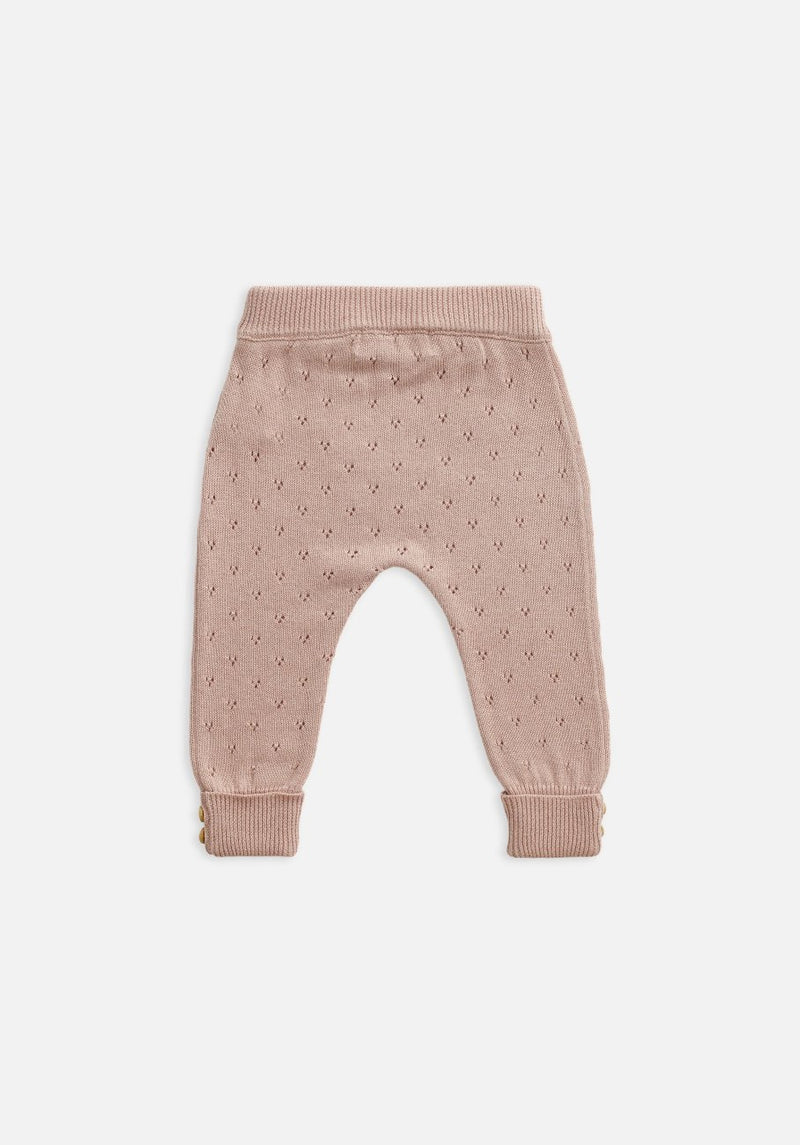 baby pink knit legging