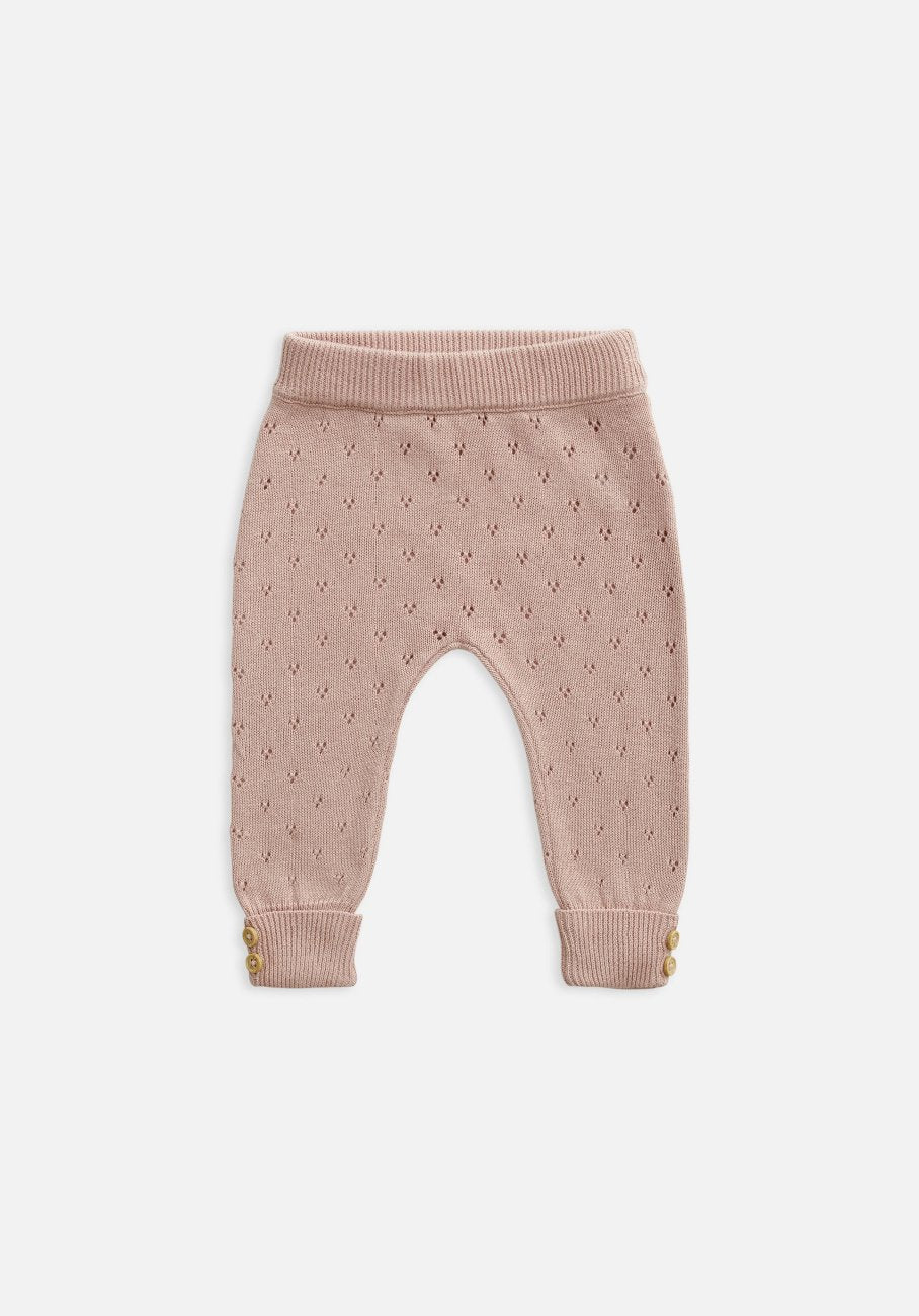 kids pink knit legging