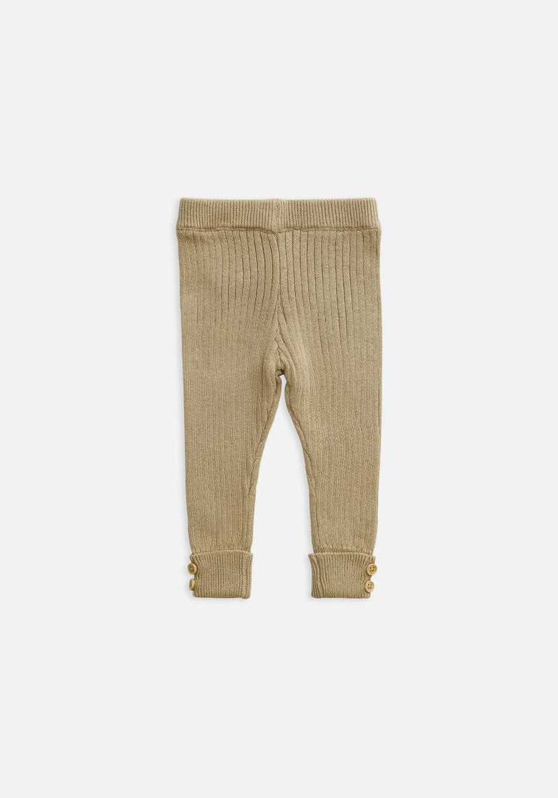 kids beige clay rib legging