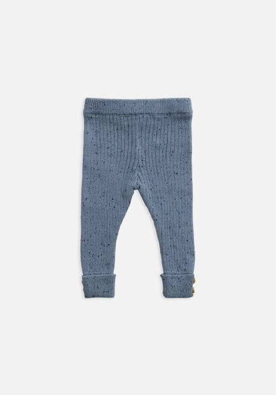 Baby slate blue knit rib legging