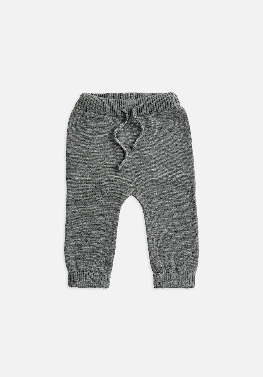 Miann & Co Baby - Cuffed Knitted Pants - Stone