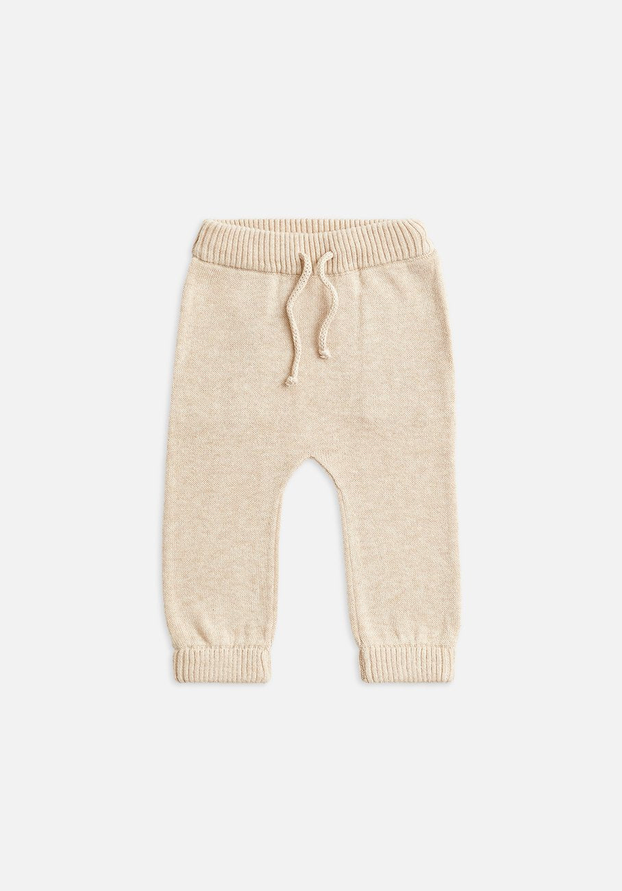 Miann & Co Baby - Cuffed Knitted Pants - Truffle