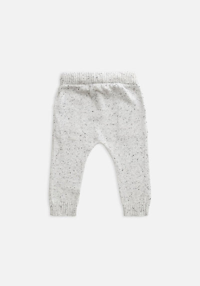 Miann & Co Baby - Knitted Pants - Speckled Grey Marle
