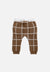 kids brown grid pants