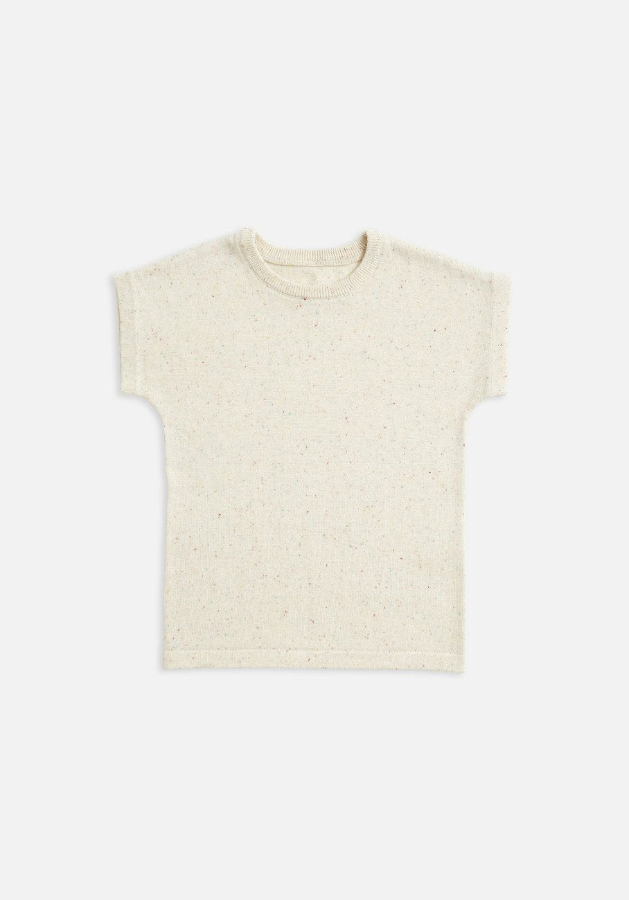 Baby biscotti speckle knit t-shirt