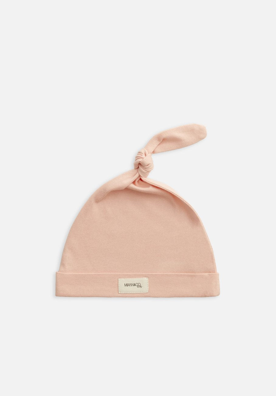 Miann & Co Baby - Organic Baby Cotton Basics - Knot Beanie - Evening Sand