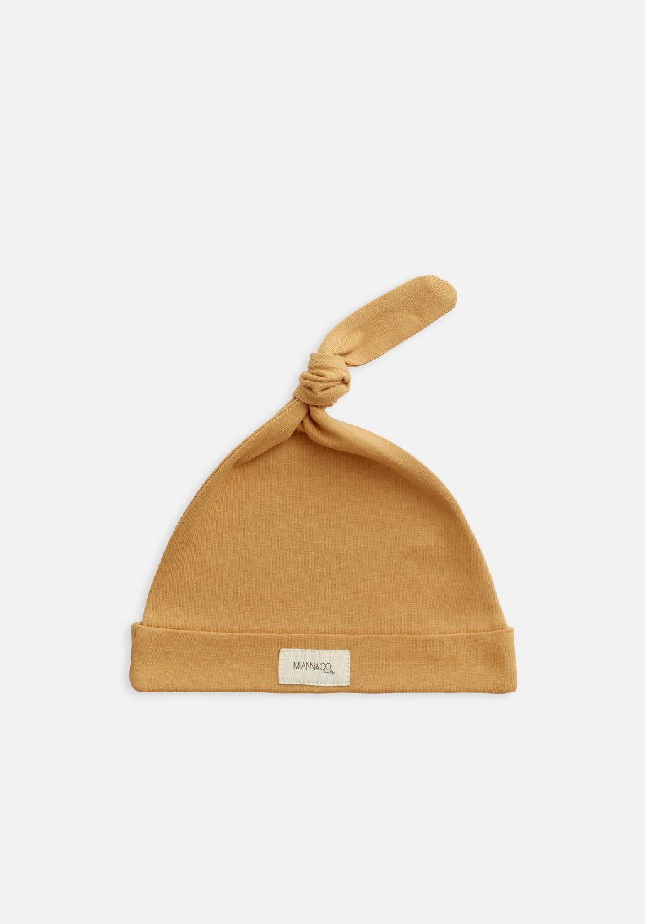 Miann & Co Baby - Organic Baby Cotton Basics - Knot Beanie - Clay
