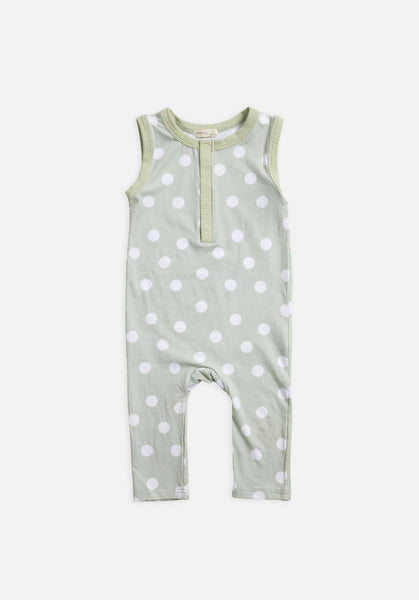 Miann & Co Kids - Sleeveless Suit - Fog Green Spot