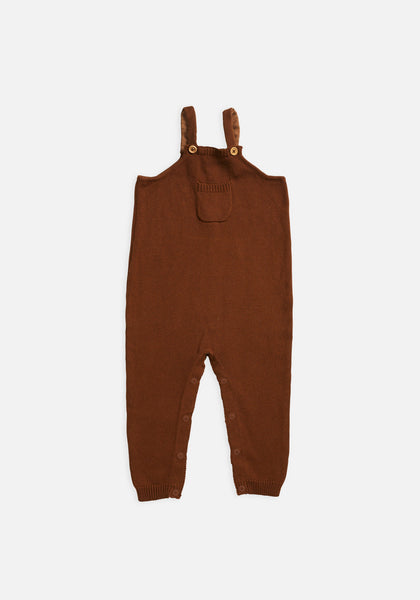 Miann & Co Baby – Knit Overalls – Rust - MIANN & CO