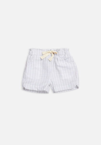 Miann & Co Kids - Elastic Waist Shorts - Grey Stripe